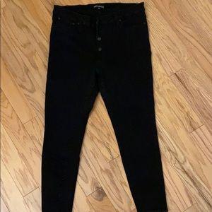 EUC J.CREW Factory High-Waisted Black Jeans
